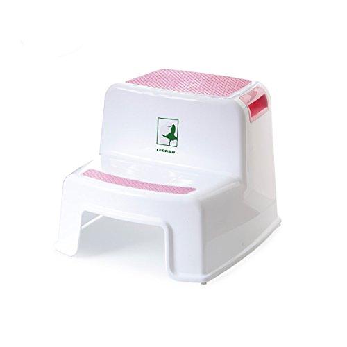 Taburete antideslizante para niños,de dos niveles,para lavamanos y para educación del control de esfínteres utilizable en el baño o la cocina rosa rosa