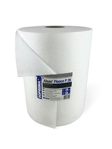 1 Rolle ALSAN PMMA VLIES 0,25 x 50,0 Meter   perforiertes und mechanisch verfestigtes Spezialkunstfaservlies mit 110,0 g/m² Flächengewicht - zur Verarbeitung mit ALSAN PMMA Flüssigkunststoff