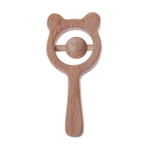 Baby haya madera oso Mordedor Baby Sonajeros Mordedor