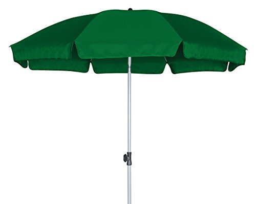 Goodsun ombrellone da giardino be, verde scuro, 240 cm, 10 stecche