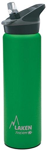 Bottiglia d'acqua termica Laken isolamento sottovuoto acciaio inossidabile bocca larga 750ml (Verde 750ml Bottiglia)