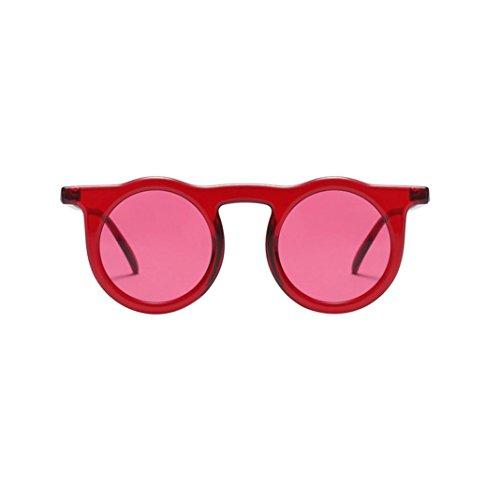 CLOOM Frauen Sonnenbrille Weinlese runde Rahmen Sonnenbrille Retro Eyewear Mode Damen Mann...