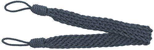 2x Denim Blau French Sinnet Geflochtene Schnur Vorhang Tuch Raffhalter 86,4cm -86cm -