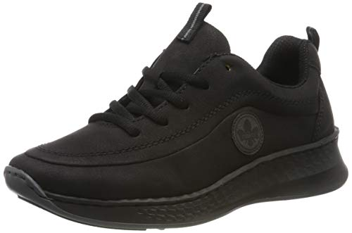 Rieker Damen N5604-00 Sneaker, Schwarz (Schwarz/Fumo 00), 40 EU