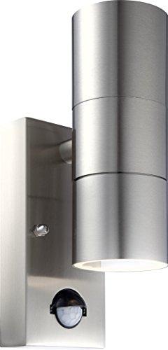 Globo 3201–2S GU10Stil IP44Sensor UP/DOWN OUTDOOR WANDLEUCHTE, SILBER (Eingangsbereich Traditionelle)