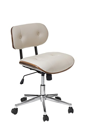 Get Premier Housewares Office Chair, Faux Leather, 94 x 51 x 59 cm – Bentwood/Cream Review
