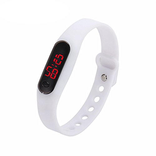 Demiawaking Unisex Sport Watch Bracciale Bambino Ragazza Studente in silicone Digital Sport orologi