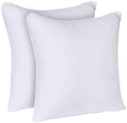 Utopia Bedding Coussins de Garnissage (Blanc, Lot de 2) Coussin Intérieur - Housse en Polycotton (45 x 45 cm | 18' x 18')