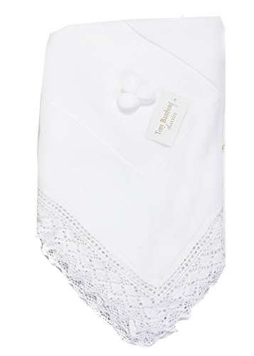 Danielstore-Toquilla de lana para bebés y recién nacidos - Color blanco