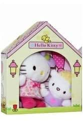 Hello Kitty and Friends Soft Toy Plush in their yellow summer house.
