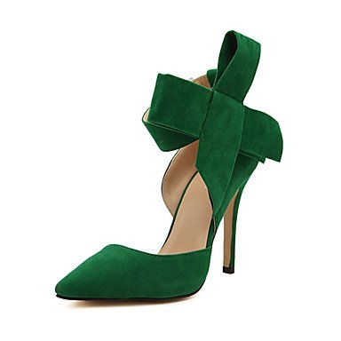 Moda Donna Sandali Sexy donna tacchi Primavera / Estate / Autunno in pelle Comfort Party & sera abito / Stiletto Heel Bowknot Black