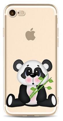 Cover Panda Per iPhone 7 4.7,Hippolo TPU Gel Silicone Protettivo Skin Custodia Protettiva Shell Case Cover Per iPhone 7 4.7 (Per iPhone 7 4.7, p-3) p-daze