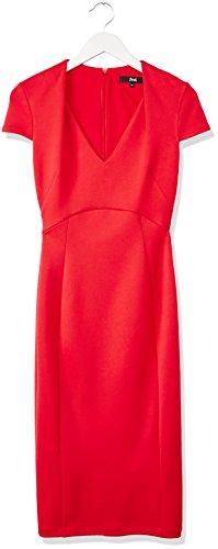 FIND Robe Décolletée Femme Rouge (Red)