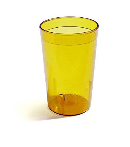 New Star Foodservice 46687Tumbler Getränk, Tassen, Restaurant Qualität, Kunststoff, 9,5oz, Bernstein, Set von 12 (Cuisinart Tupperware)