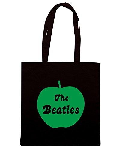 T-Shirtshock - Borsa Shopping FUN0408 1249 beatles apple decal 93983 Nero