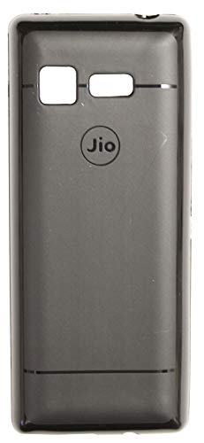 100% authentic c8d74 8962e FCS Soft Silicon Flexible Back Cover for Jio Phone Lyf F2403 (Black)