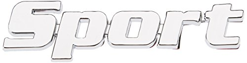 3D07203 - Chrome 3D emblème de la voiture auto adhésif logo caractères (3M auto-adhésif) SPORT