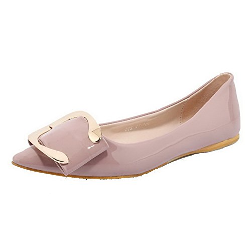voguezone009-womens-pull-on-pointed-closed-toe-low-heels-pu-solid-pumps-shoes-pink-39
