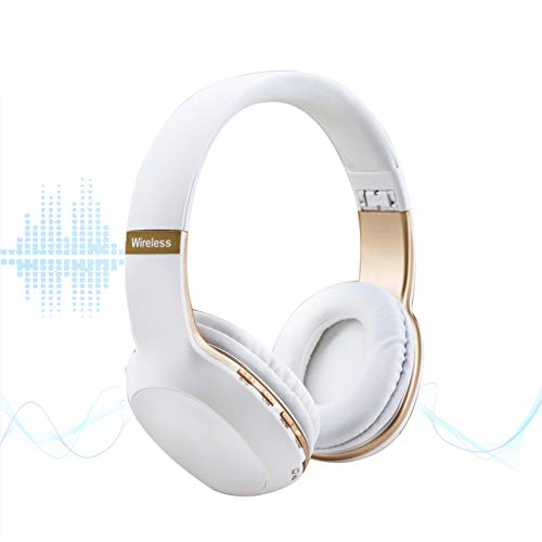 a8aea871709 Producto TOP 18. M2 TEC Auriculares Bluetooth Plegables Radio FM MP3 TF  Card Cascos INALAMBRICOS AUX (Blanco)