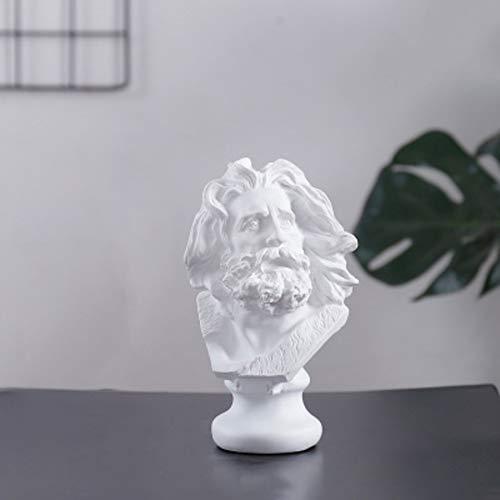 Micaza Mini Marseilles Statue, Kriegerstatue Harz Büsten Skulptur Bart Mann Kämpfer Figur Klassische Figuren Für Home & Office Dekor Malerei-e 17.5x11cm(7x4inch)