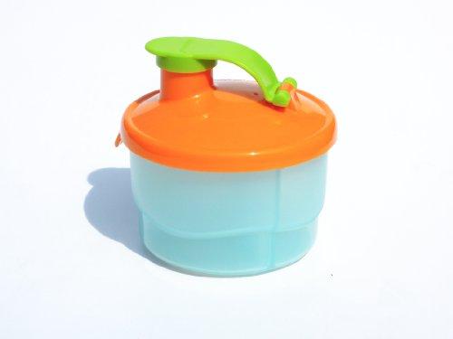 1a TUPPER Portionierer TupperCare Milchpulver Spender --- blau-orange-grün