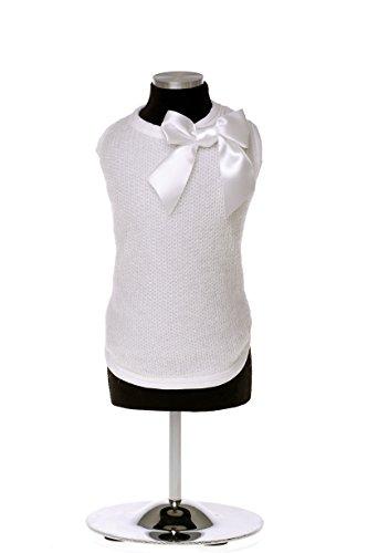 Trilly tutti Brilli Bonnie Warm T-Shirt mit Schleife Pin, XS, weiß - Virginia T-shirt Sweatshirt