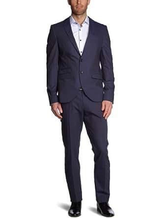ESPRIT Collection Herren Anzugsjacke Slim Fit 033EO2G005, Gr. 48 (M), Blau (402 dark night blue)