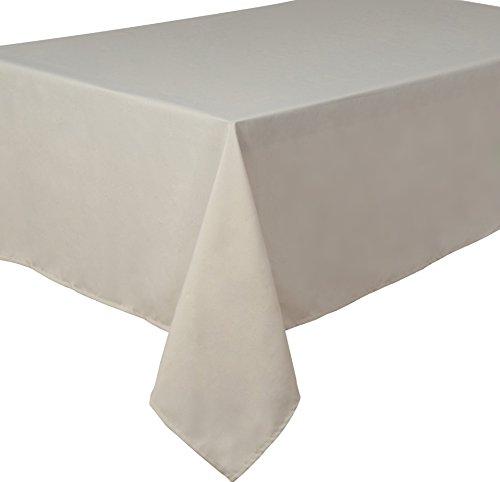 Home Direct Qualitäts Tischdecke Textil Eckig 150 x 250 cm, Farbe wählbar Elfenbein