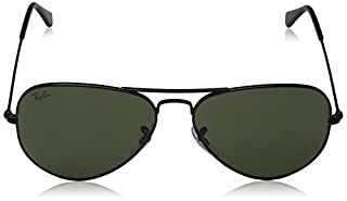 Ray-Ban RB3025 Aviator Large Metal Montures de Lunettes, Noir (Black), 58 mm Mixte Adulte (B002QJRD7G) | Amazon price tracker / tracking, Amazon price history charts, Amazon price watches, Amazon price drop alerts