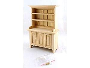 Melody Jane Casa de muñecas en Miniatura inacabada, Muebles de Comedor, Cocina, Bar, Madera, cómoda