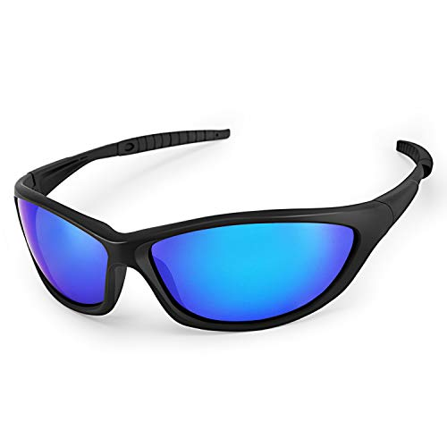 Sport Sonnenbrille, CHEREEKI Polarisierte Gläser Brillen mit UV400 Schutz & TR90 Unzerbrechlicher Rahmen für Männer Frauen Radfahren Laufen Angeln Golf Fahren Laufen
