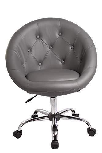 Duhome Elegant Lifestyle Schicker Rollhocker/Arbeitshocker / Bürostuhl in Grau - Hocker Drehstuhl Typ 509B