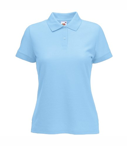 Fruit of the Loom - Polo - Femme bleu ciel