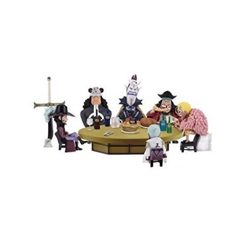 5 Stück-sammlung-tabelle (Qivor Spielzeug Statue Einteiler Spielzeug Modell Cartoon Charakter Dekoration/Sammlerstücke/Kunsthandwerk Eine Belohnung/Runde Tabelle 5 cm)