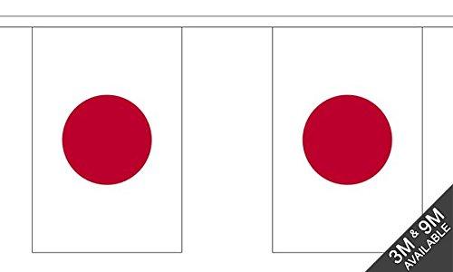 Die Flagge Großhändler b038940Japan Wimpelkette, mehrfarbig, 24x 1x 23cm