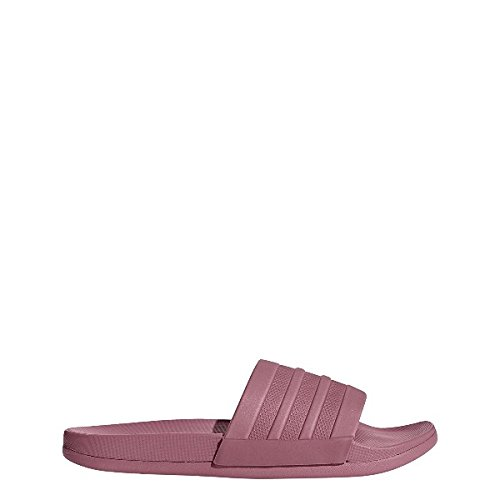 Adidas adilette cloudfoam plus mono slipper, scarpe da spiaggia e piscina donna, rosa tramar, 42 eu