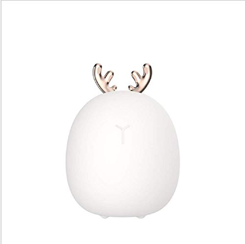 (WXCCK Niedliche Deer LED Silikon-Lampe, Mini Pat Night Light Bedroom Bedside Midnight Fütterung Milk Lampe Cartoon Kaninchenlampe)