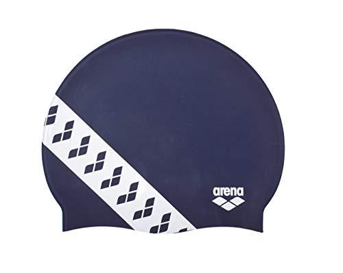 ARENA Team Stripe Badekappe für Erwachsene, Unisex Einheitsgröße Marineblau