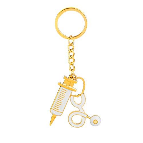 follwer0 Style Spritze Stethoskop Anhänger Schlüsselanhänger Schmuck Geschenk
