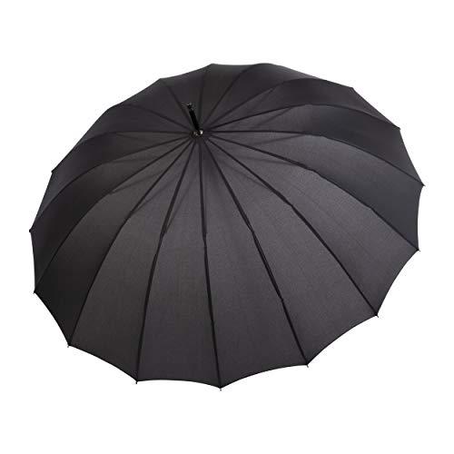 doppler Long Umbrella Liverpool automatico Grande baldacchino Look insolito ed elegante Nero