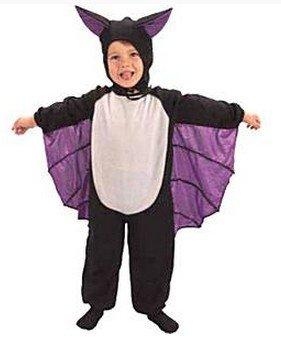 erdbeerloft - Jungen 2 teiliges Fledermaus Kostüm Karneval Fasching, 2-3 Jahre, Schwarz (Halloween Kostüme 2 Jährigen Jungen)