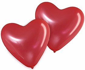 ETHAHE 100 Ballons Rouges en Latex en Forme de Cœur pour tout types d'évènements