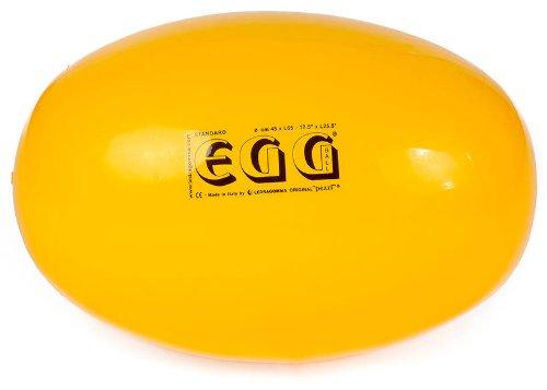 Original PEZZI Eggball Standard 45 cm gelb Sitzball Gymnastickball Pezziball (Gymnastikball Oval)