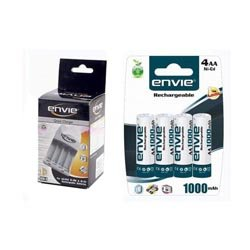 Envie ECR 11 Speedster LCD Charger for AA and AAA Ni-mh Rechargeable Batteries