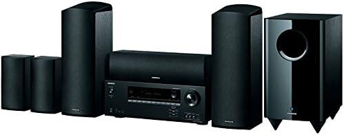 Onkyo 5.1 Heimkinosystem mit AV Receiver und Lautsprecher, HT-S5805-B, Hifi Verstärker 100 Watt/Kanal, Multiroom, Dolby Atmos, Bluetooth, Radio, HDMI/Audio in, Schwarz, 1499313