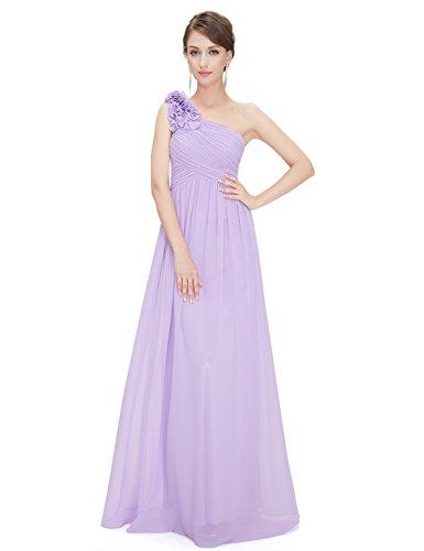Ever Pretty Robe de Soirée avec une épaule en fleur de volant 08237 Violet clair