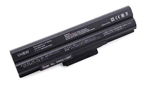 vhbw Li-ION Batterie 6600mAh (11.1V) Noir pour Ordinateur Portable, Notebook Sony Vaio VGN-AW41XH/Q, VGN-AW41ZF comme VGP-BPL13.