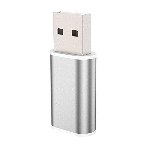 Pandiki Externer USB-Soundkarten-Konverter USB zu Jack 3,5 mm Kopfhörer-Audio-Adapter Mic Soundkarte PC Laptop-Audio-Adapter
