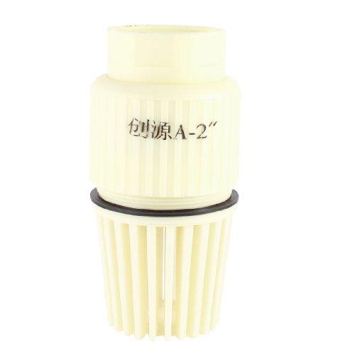 uxcell, Pompe centrifughe Jet 2 NPT valvola PVC femminile-beige-piede, B00K8348LQ