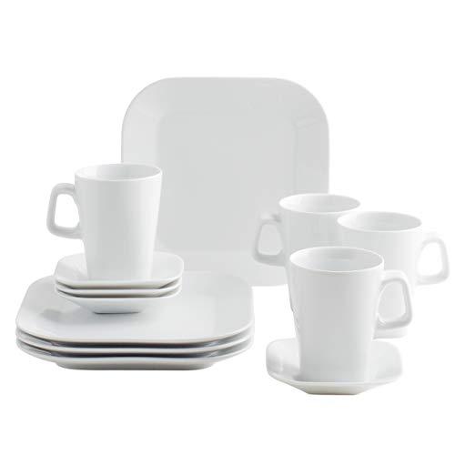 Kahla 42F258A90042C Cumulus, Porzellan Geschirr-Set 4 Person, Kaffeeservice Tassen Kaffeebecher...